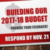 Building Our 2017-18 Budget
