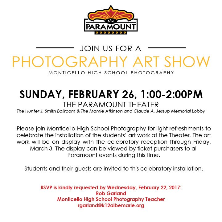 MoHS Photography Art Show