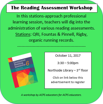 Reading Assessment Workshop