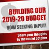 Building Our 2019-20 Budget