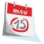May 15 Calendar Page