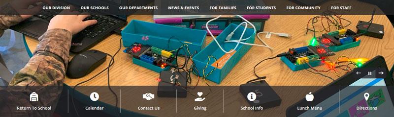 New ACPS Website Header