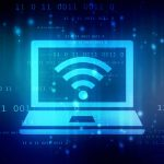Wi-Fi Symbol on Laptop