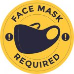 Face Mask Required Sticker