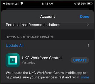 UKG Workforce Central Update