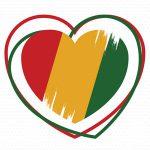 Black History Month heart logo