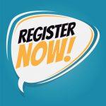 Register Now speech balloon