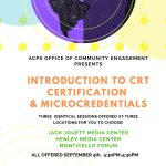 Intro to CRT Micros & Certification