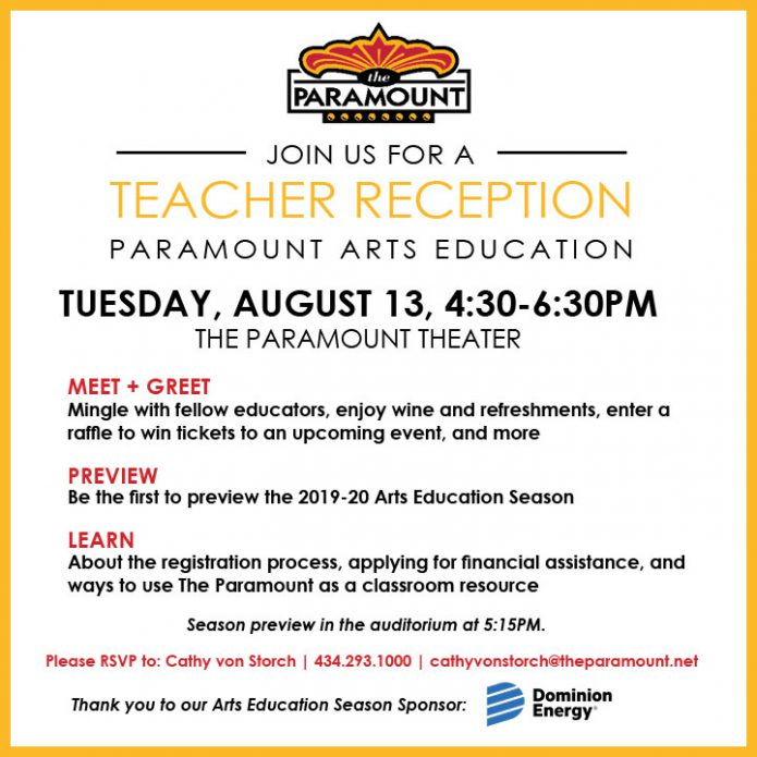Paramount Arts Education Teacher Reception 2019