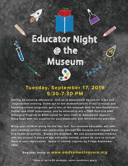 Educator Night @ the Museum