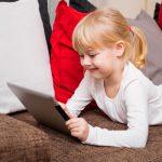 Young Girl Using iPad