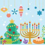 Christmas and Hanukkah holiday design