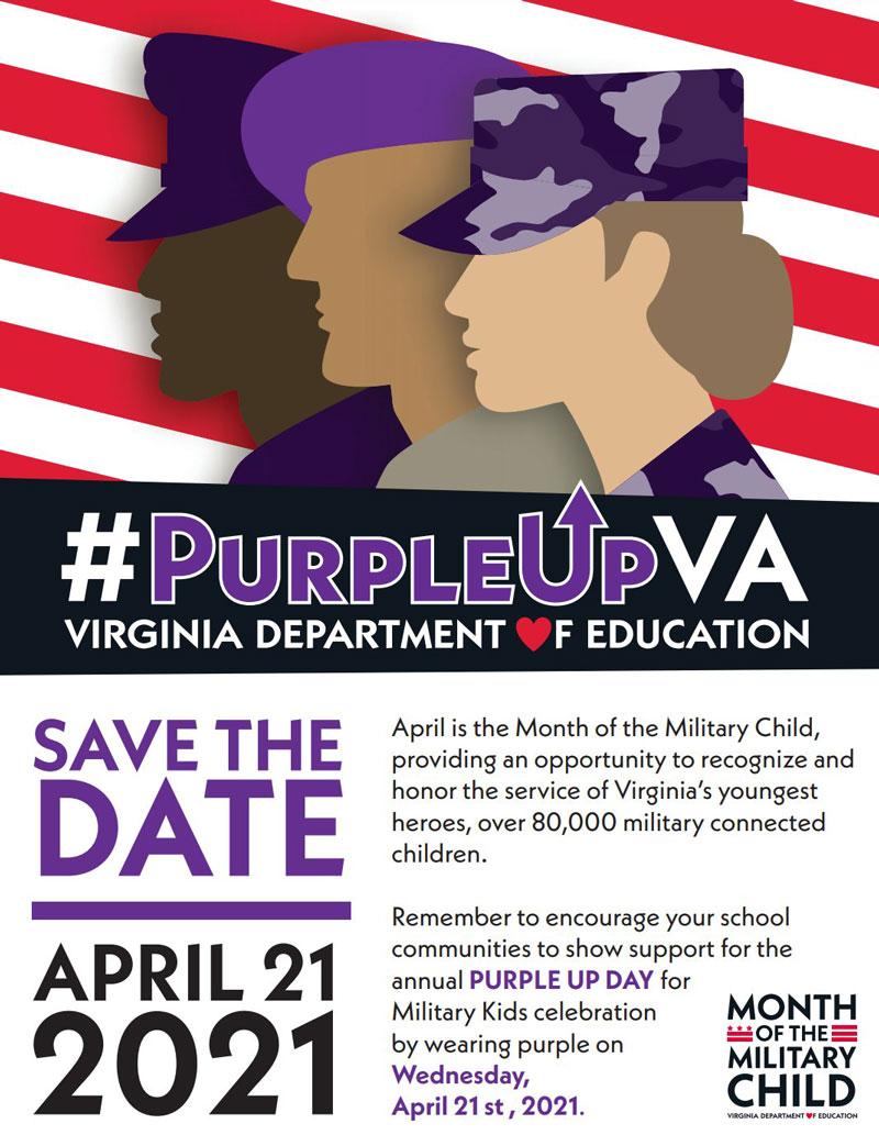 #PurpleUpVirginia Flyer