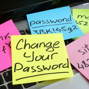 change your password sticky note